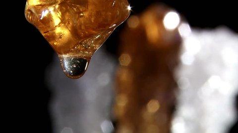 Honey, extreme closeup
