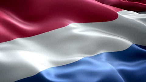Netherlands national flag. (New surge effect) Holland flag. De vlag van Nederland.