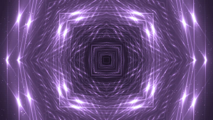 VJ Fractal violet kaleidoscopic background. Background purple motion with fractal design. Disco spectrum lights concert spot bulb. Light Tunnel. | Shutterstock HD Video #15231064