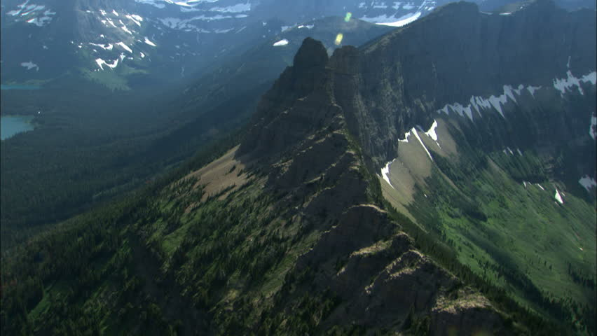 aerial shot of mountain side #1525628