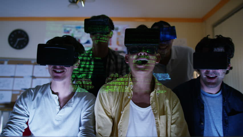 4K Group of young male computer gamers immersed in a virtual reality game | Shutterstock HD Video #15294823
