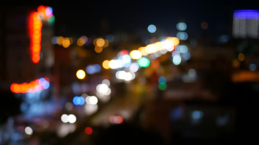 Blurry unfocused city lights. Night traffic - 4K stock video clip & Night City Lights And Traffic Background. Out Of Focus Background ... azcodes.com