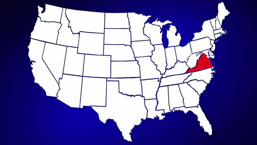 Arizona AZ United States Of America D Animated State Map Stock - United states map arizona