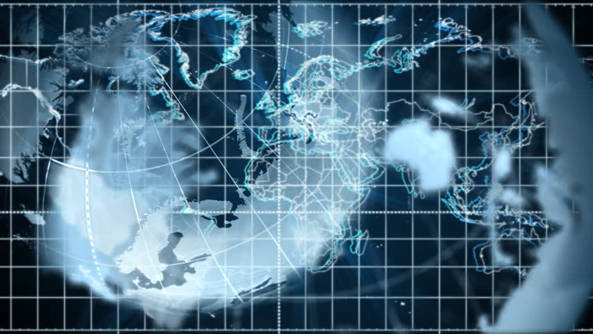 Rotating globe with motion graphics | Shutterstock HD Video #1534534