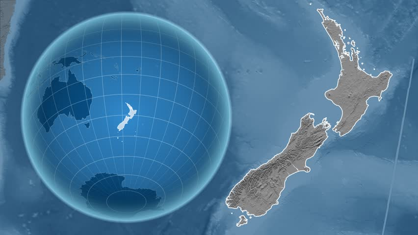 Stock video of new zealand shape animated on the 15389347 visually similar footage gumiabroncs Gallery