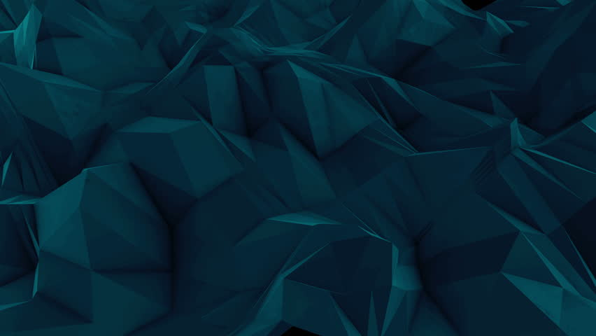 Abstract dark 3d rendered geometric background with spikes and low contrast texture, surface is devided into random sized triangles | Shutterstock HD Video #15390934