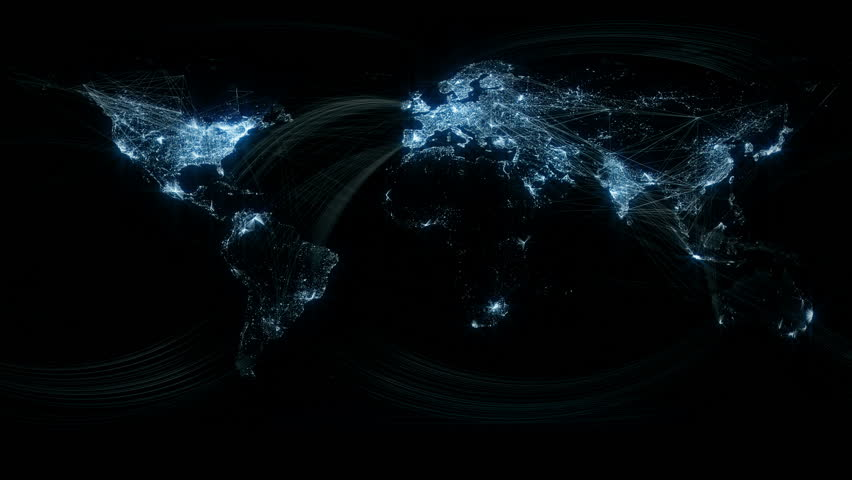 Network lines lighting up world map 4k black and white version glowing network lines lighting up world map hd stock footage clip gumiabroncs Gallery