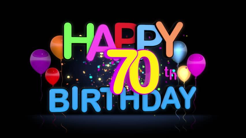 Happy 70th Birthday Title Seamless Stockvideos Filmmaterial 100 Lizenzfrei 15431824