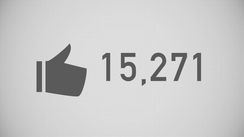 A close up shot of likes being counted on a social network page. Flat version.  	 | Shutterstock HD Video #15482824