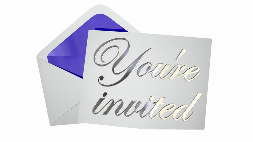 Youre Invited Invitation Envelope Party Event Open Note Message – Message for Invitation for Party