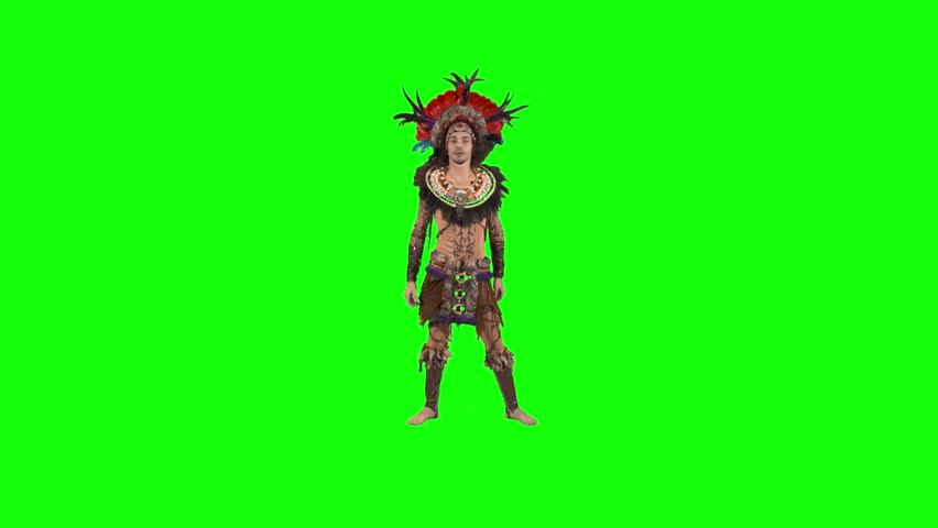 African dancer - green screen