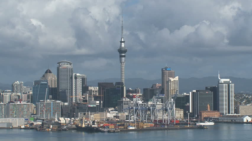 AUCKLAND, NEW ZEALAND - CIRCA 2010: A view of the city skyline