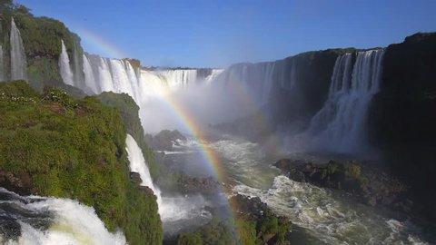 Double rainbow at Iguazu Falls, on the border of Argentina and Brazil.