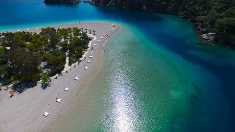 Oludeniz Turkey Aerial View in 4K