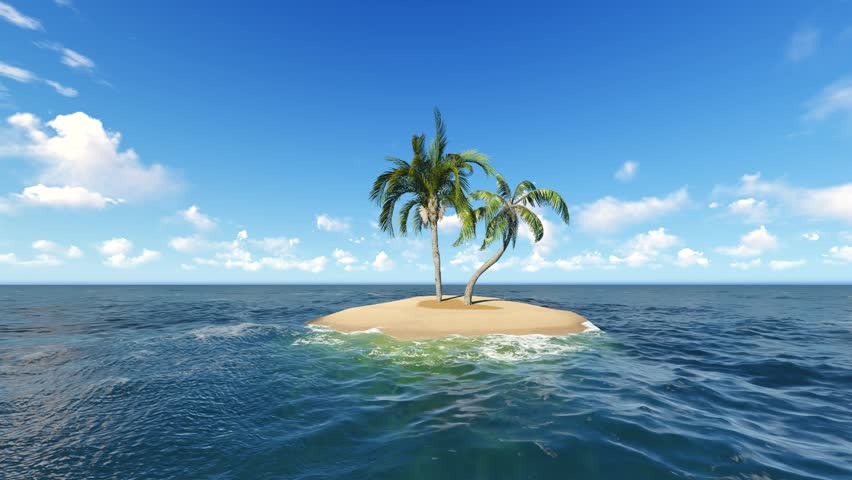 Hd Tropical Island Beach Paradise Wallpapers And Backgrounds: Desert Island In The Ocean Stock Footage Video 4898036