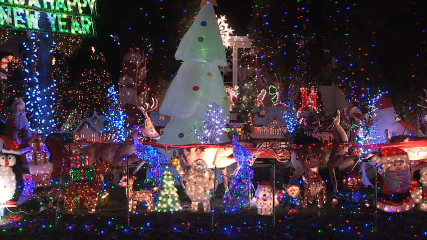 toronto ontario canada december 2015 house with thousands of christmas lights covering it - Christmas Lights Video