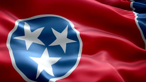 This is the surging effected flag of Tennessee which is a state of united states