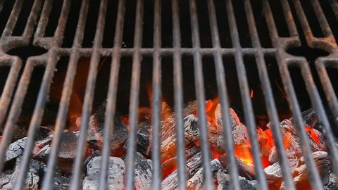 BBQ Grill and glowing coals. You can see more BBQ, grilled food, fire flames in my set