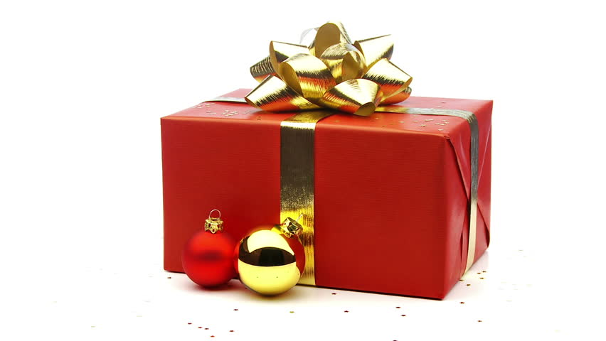red christmas present with star stock footage video 100 royalty free 1584094 shutterstock