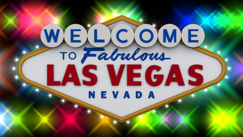welcome to fabulous las vegas sign with flashing lights stock footage video 159757 shutterstock. Black Bedroom Furniture Sets. Home Design Ideas