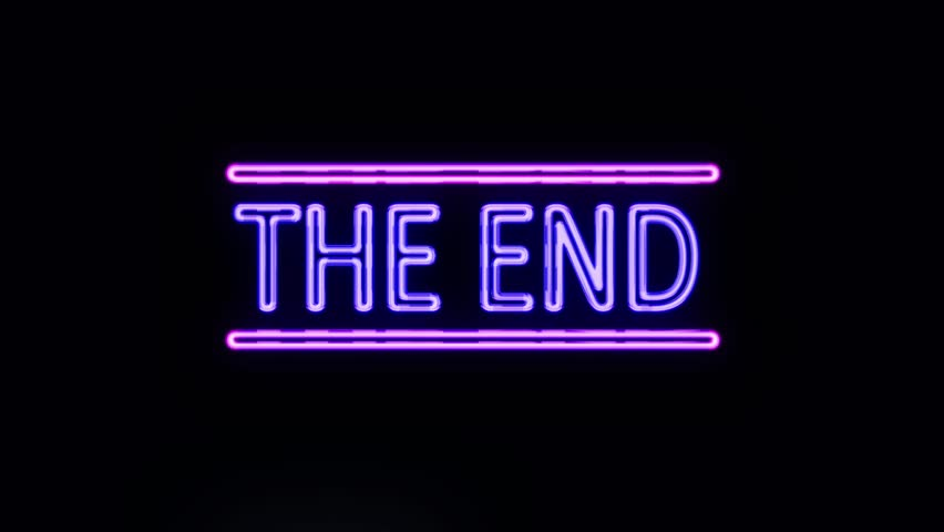 THE END Sign in Neon Style Turning On | Shutterstock HD Video #16003714