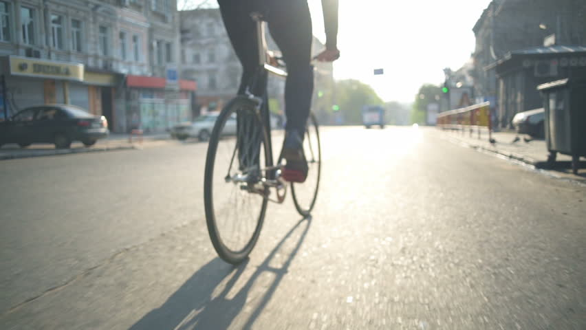 Close up male wearing classic shoes pedalling slow motion | Shutterstock HD Video #16019932