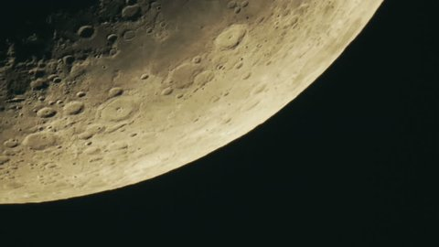 Close up of the Moon Stock Footage Video (100% Royalty-free