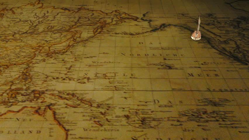 Small cartoon sailing ship moves on the vintage grunge world map small cartoon sailing ship moves on the vintage grunge world map background dolly shot decorative 3d animation stock footage video 16074814 gumiabroncs Gallery