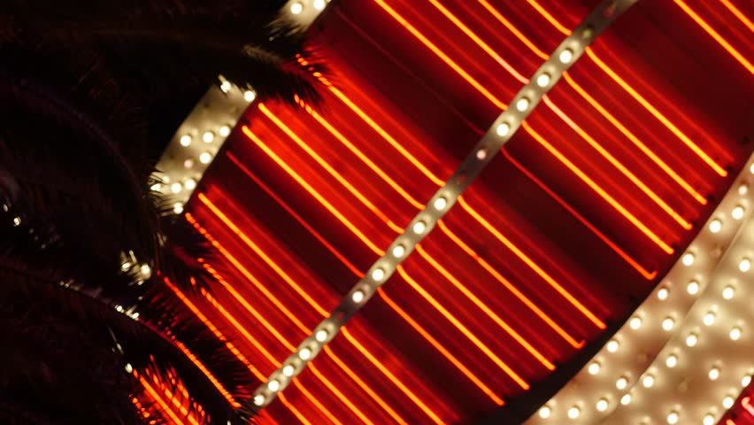 Very bright lights flash outside of a las vegas casino | Shutterstock HD Video #16098094