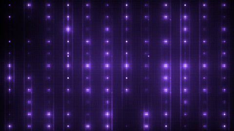 Vj Abstract Violet Bright Mosaic. Bright beautiful flood lights disco violet background mosaic. Seamless loop.
