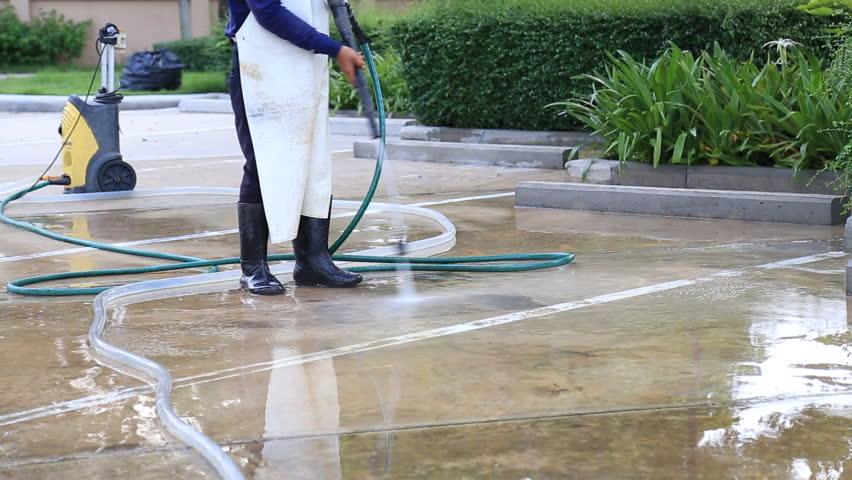 how to clean cement floor