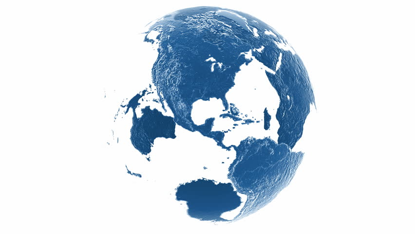 Rotating 360 clean earth globe with transparent oceans and very loop globe with alpha hd stock footage clip gumiabroncs Image collections