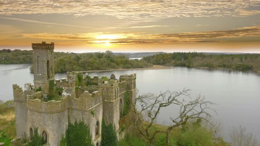 Drone footage of Irish Castle | Shutterstock HD Video #16313704