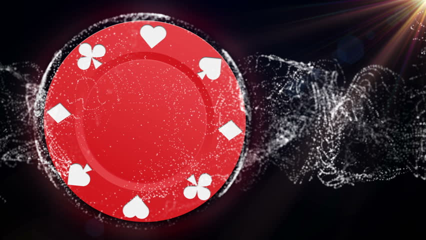 Poker Chip Particle 5 Stock Footage Video 1633309
