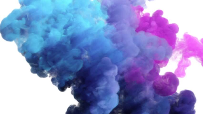 Colored Smoke Explosion On White Video De Stock Totalmente Libre Regalías 16344994 Shutterstock