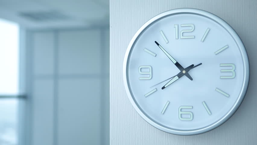Timelapse of office clock showing 8/Timelapse of Office Clocks | Shutterstock HD Video #16350856