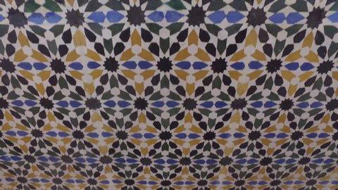 Granada, Andalusia, Spain  - April 17, 2016: Alhambra palace and fortress complex located in Granada