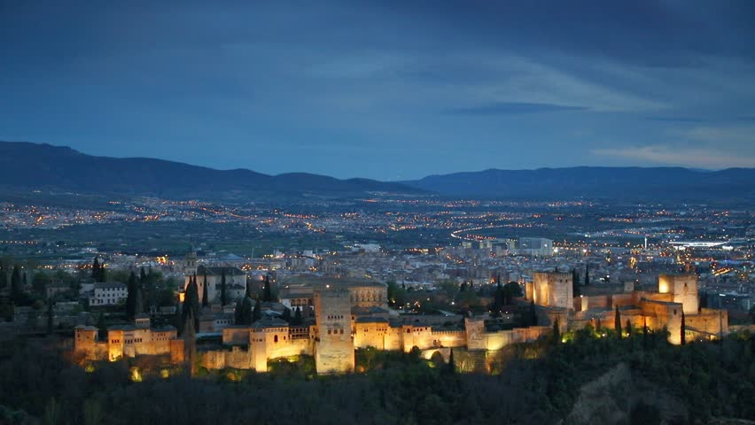 Alhambra palace and fortness complex. Granada, Spain