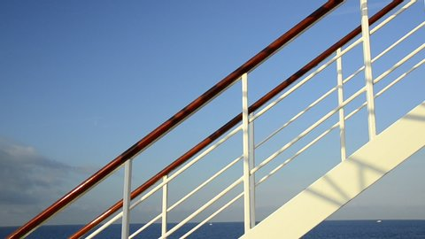 A sailing cruise ship in the Mediterranean Sea, Europe. - Clip is HD 1920 x 1080