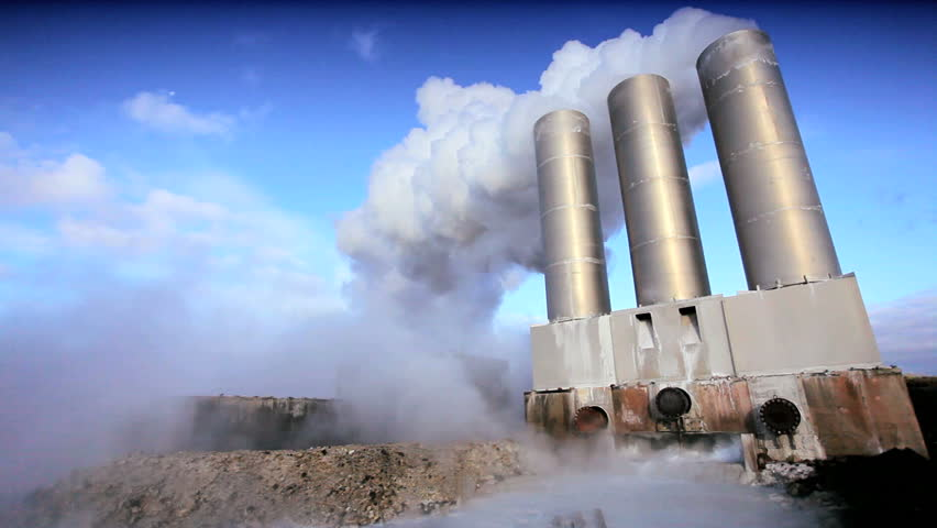 Steam From Energy Producing Geothermal Power Plant