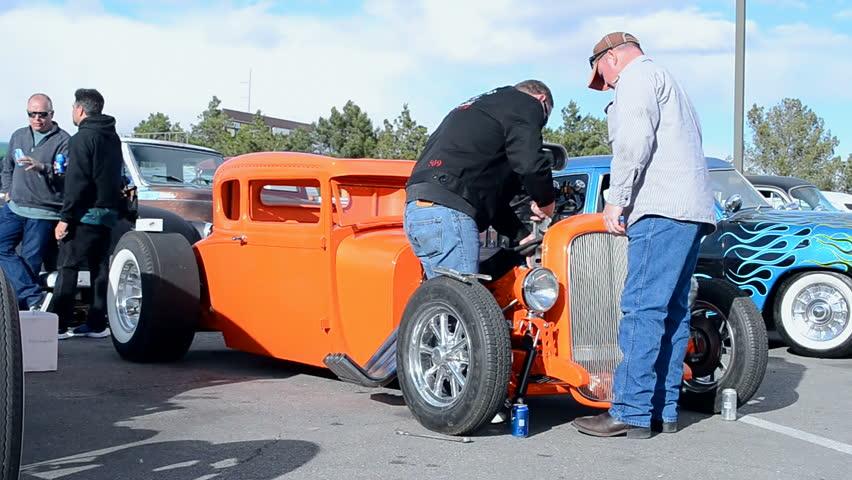 Las Vegas Nv Apr 15 Driver Fixing The Car During Viva Las