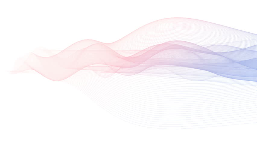 Graphic abstract 2016 Pantone color mix (Rose Quartz and Serenity) gradient lines waving. Isolated on white