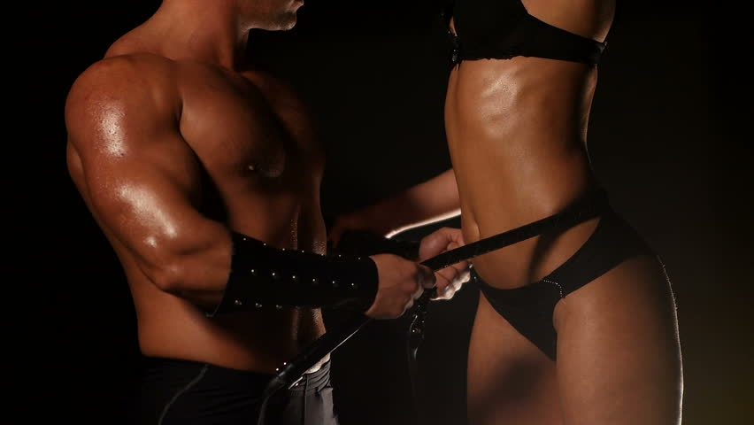 Passion Love Couple and Leather Whip