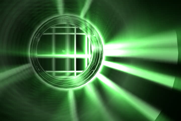 Green Pulsating Circles with a metalic finish.   Shutterstock HD Video #16504