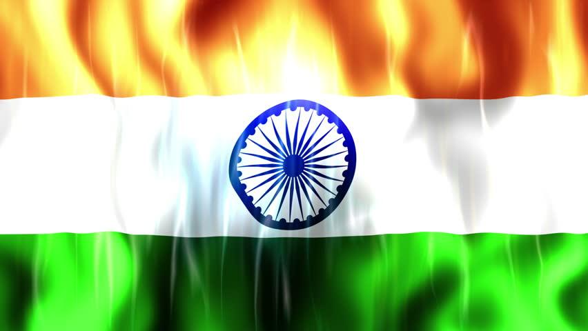 Clothe India Flag Hd: A Beautiful Satin Finish Looping Flag Animation Of India