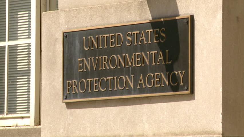 WASHINGTON, DC, - April 2016: Close up Sign Environmental Protection Agency