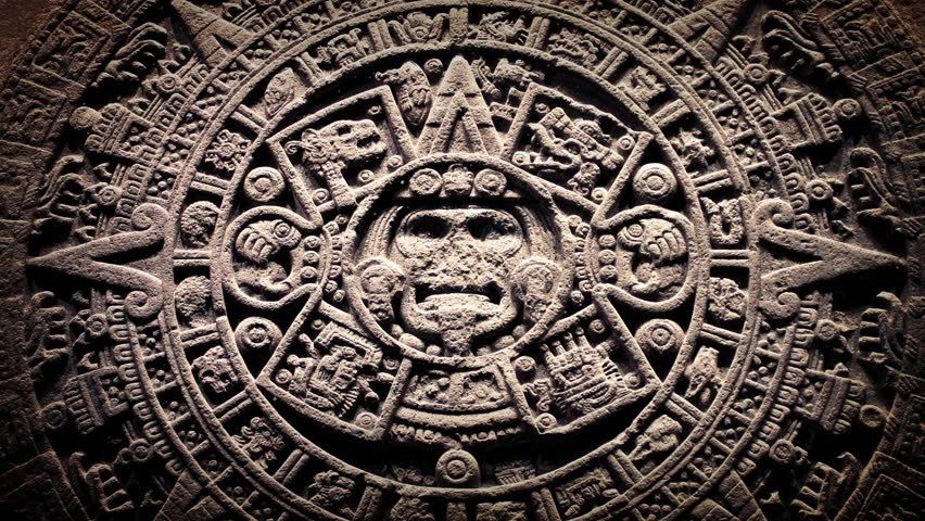 Mayan Stone Seal With Dust Floating Around