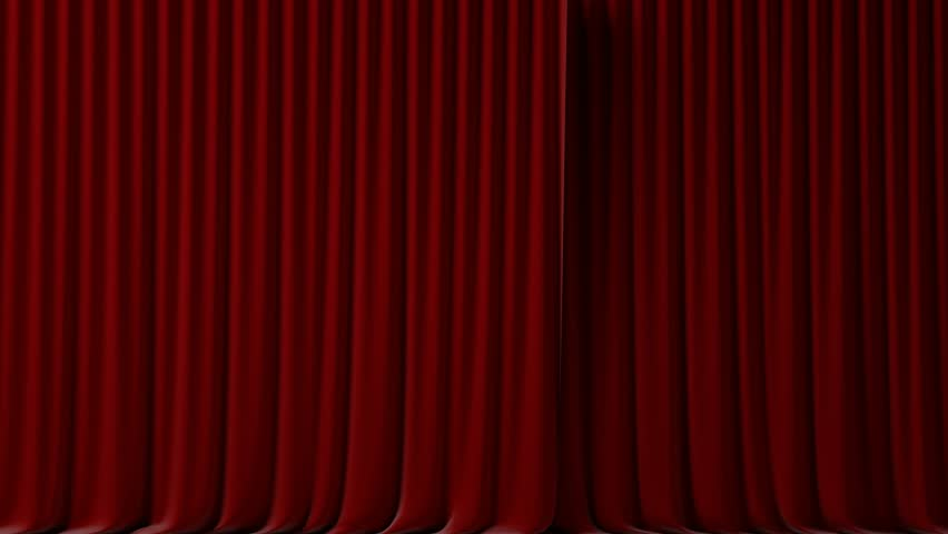 red velvet curtains opening and closing with alpha mask stock footage video - Velvet Curtain