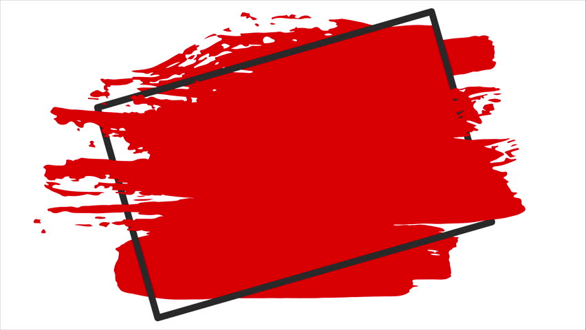 Red Brush Stroke Transition Background Stock Footage Video 100