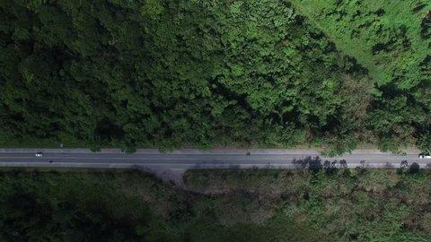 Top View of Rural Road